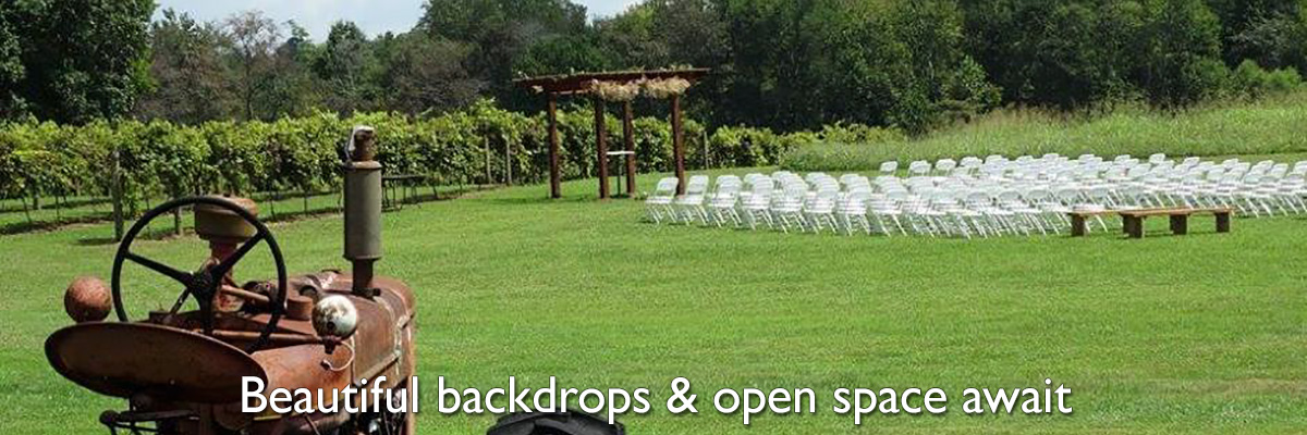 Beautiful backdrops and open space